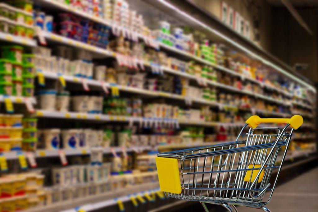 supermarket, cart, shopping